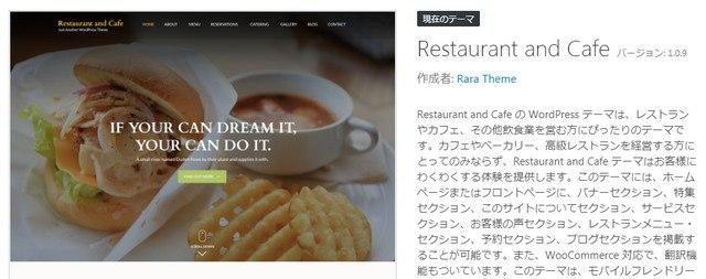 WPテーマrestaurant&cafeカスタマイズ