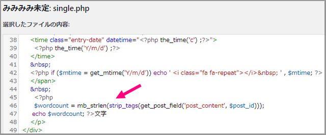 WordPressで、記事文字数をカウントして、フロント出力するプログラム
